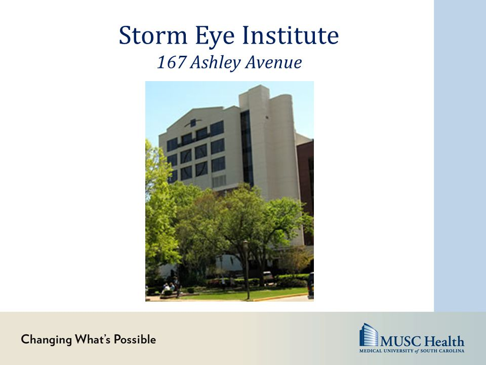 Storm Eye Institute 167 Ashley Avenue