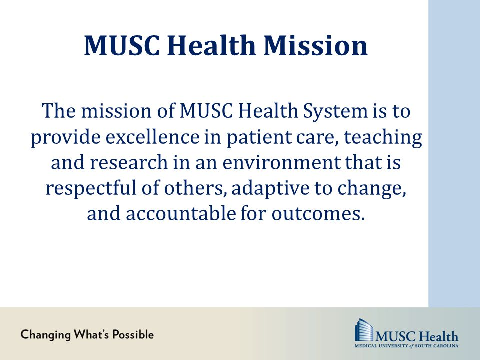 MUSC Health Mission