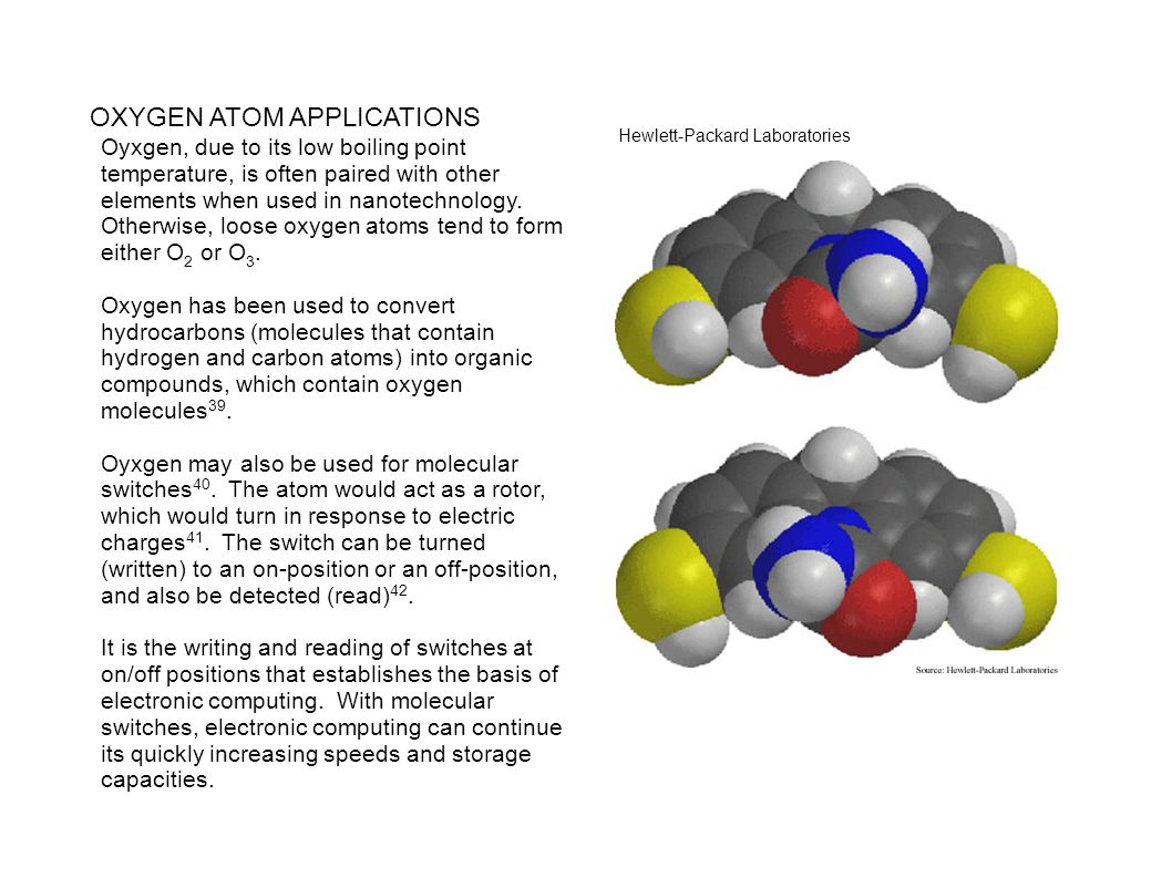 OXYGEN ATOM APPLICATIONS