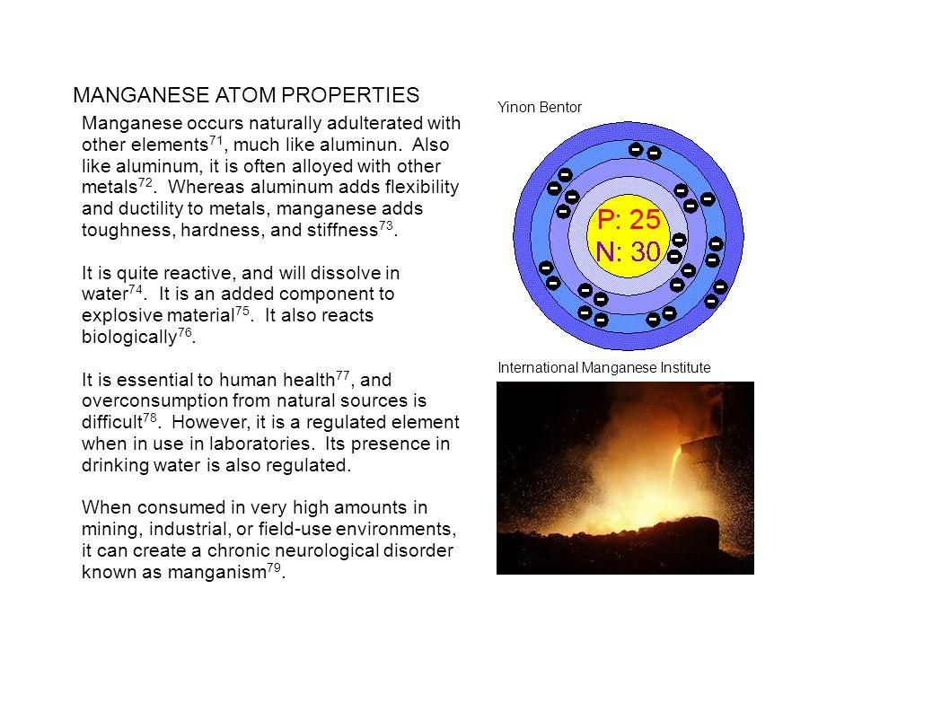 MANGANESE ATOM PROPERTIES
