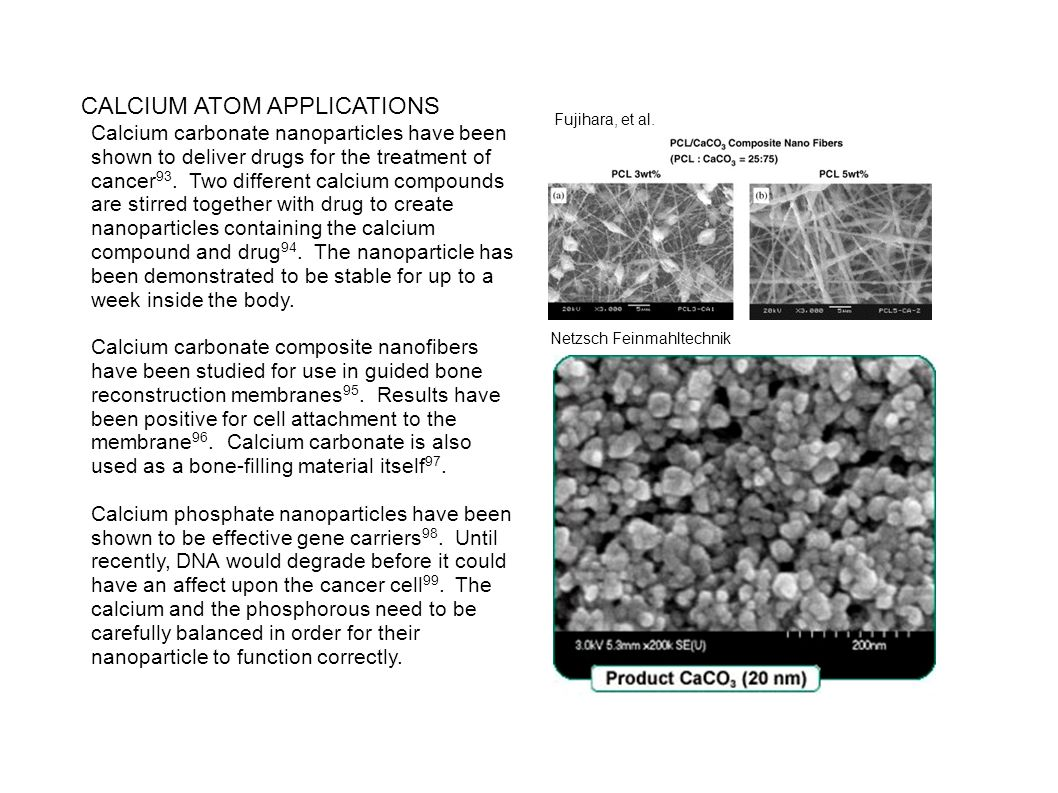 CALCIUM ATOM APPLICATIONS