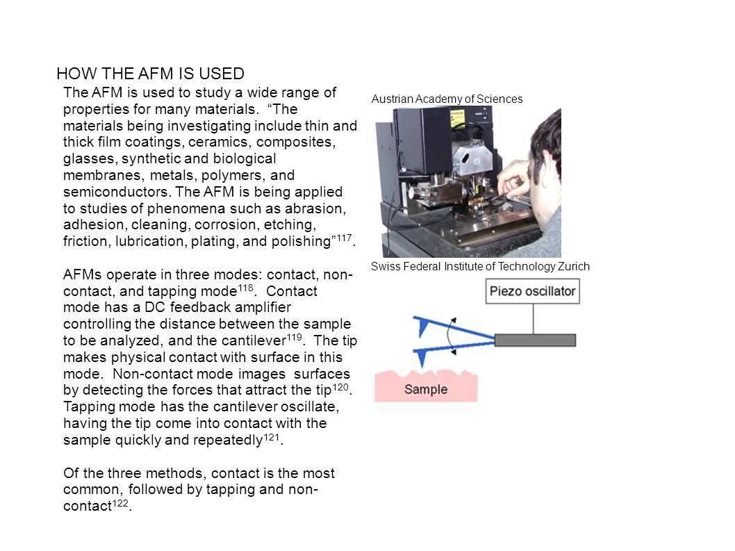 HOW THE AFM IS USED