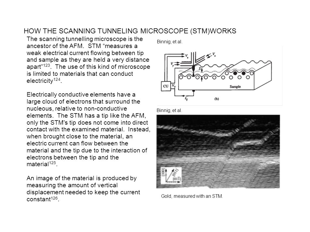 HOW THE SCANNING TUNNELING MICROSCOPE (STM)WORKS