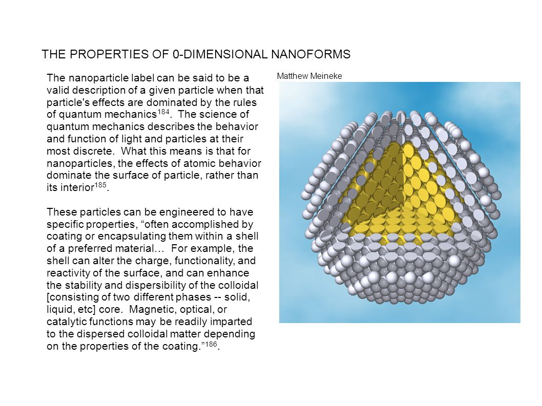 THE PROPERTIES OF 0-DIMENSIONAL NANOFORMS