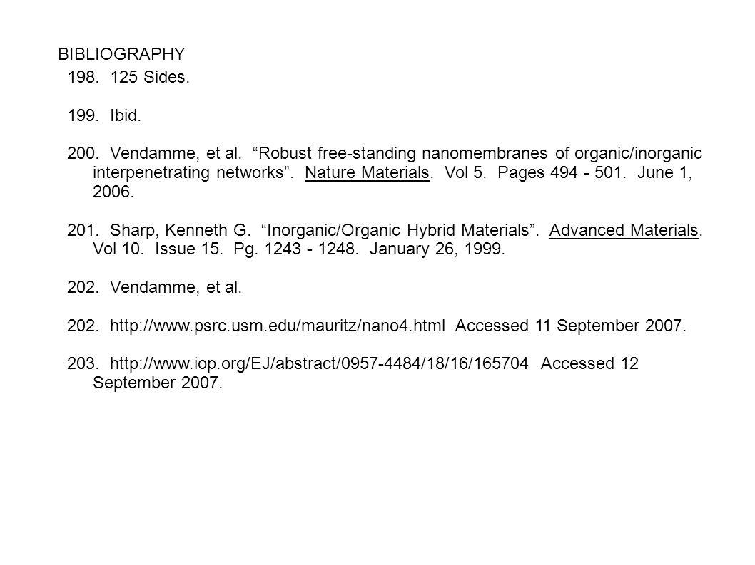 BIBLIOGRAPHY 198. 125 Sides. 199. Ibid.