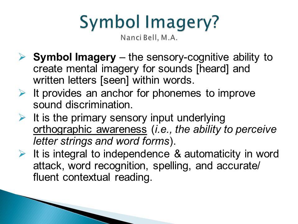 Symbol Imagery Nanci Bell, M.A.