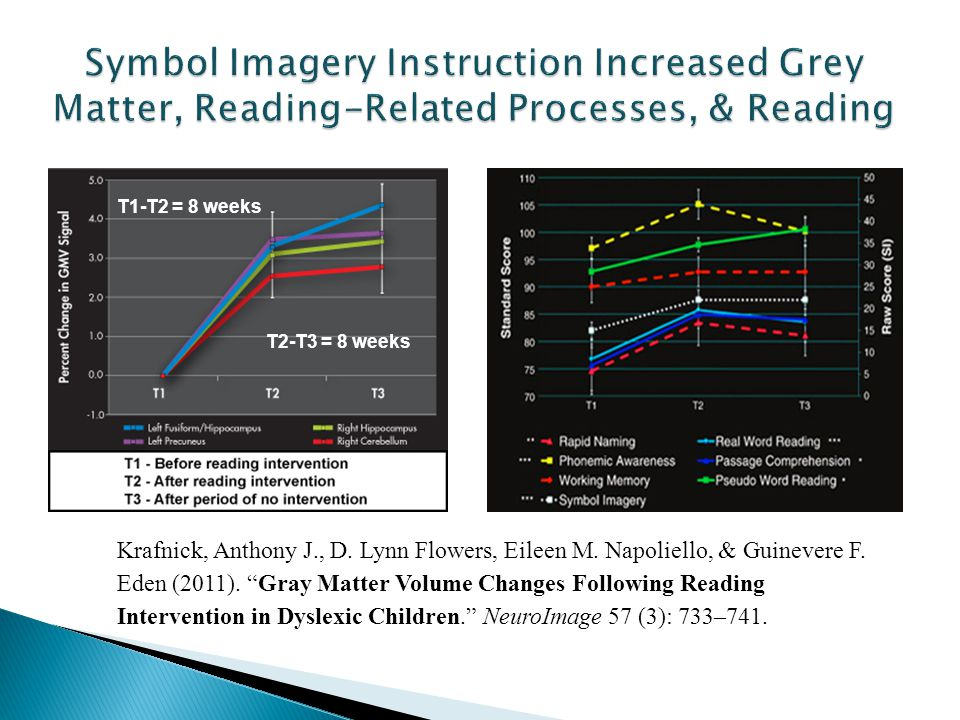 Symbol Imagery Instruction Increased Grey Matter, Reading-Related Processes, & Reading