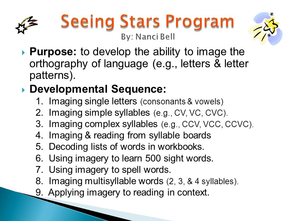 Seeing Stars Program By: Nanci Bell