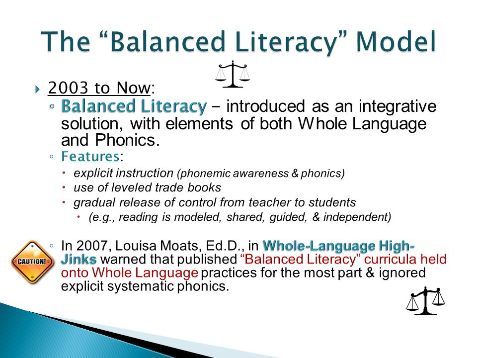 The Balanced Literacy Model