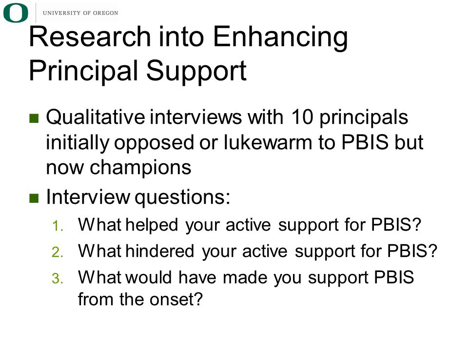Research into Enhancing Principal Support
