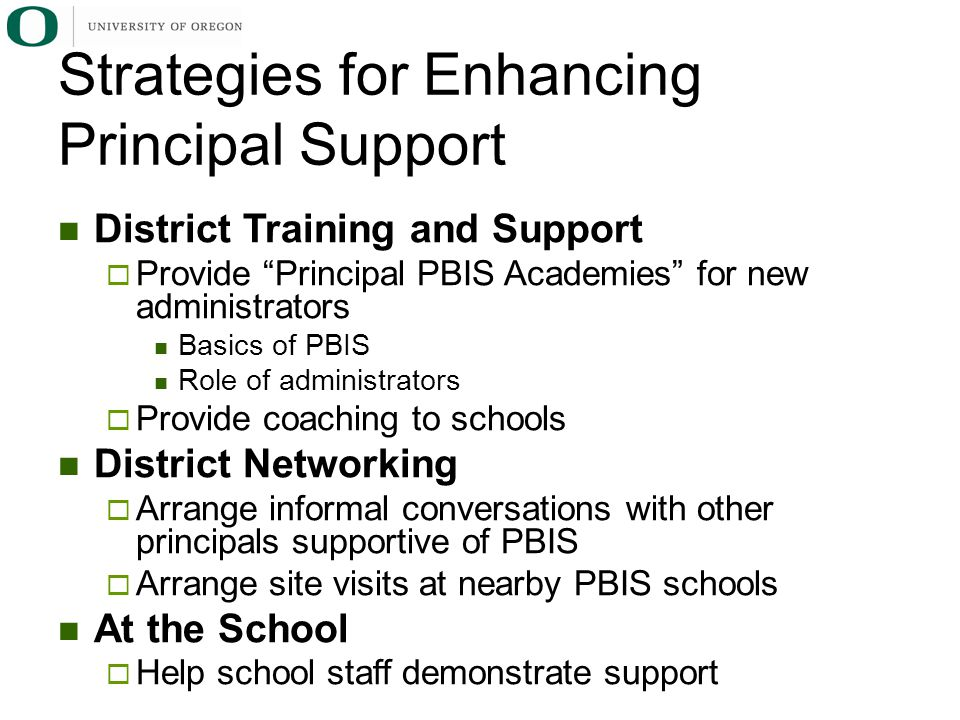 Strategies for Enhancing Principal Support