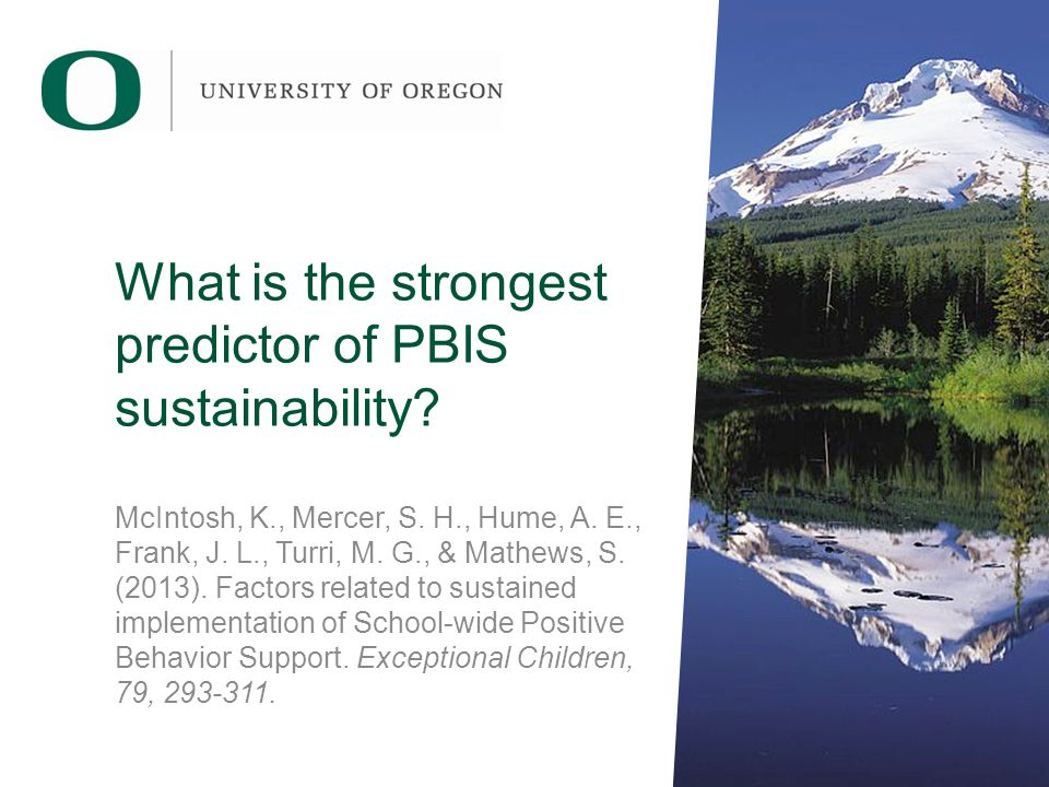 What is the strongest predictor of PBIS sustainability