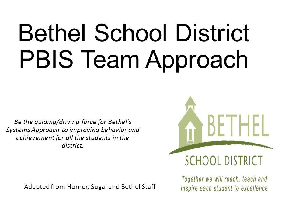 Bethel School District PBIS Team Approach