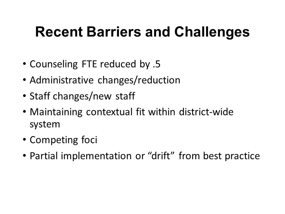 Recent Barriers and Challenges