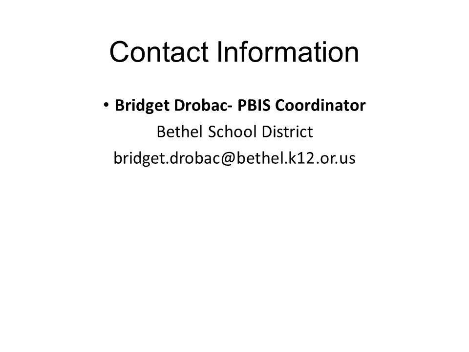 Bridget Drobac- PBIS Coordinator