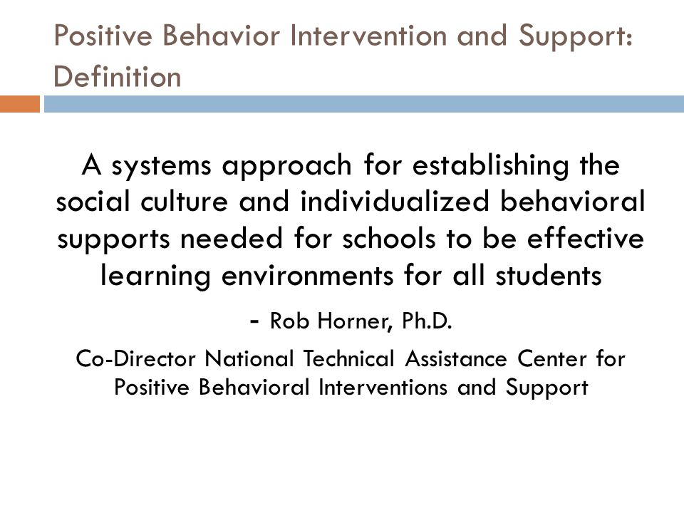 Positive Behavior Intervention and Support: Definition