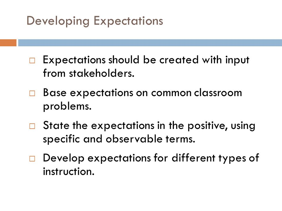 Developing Expectations