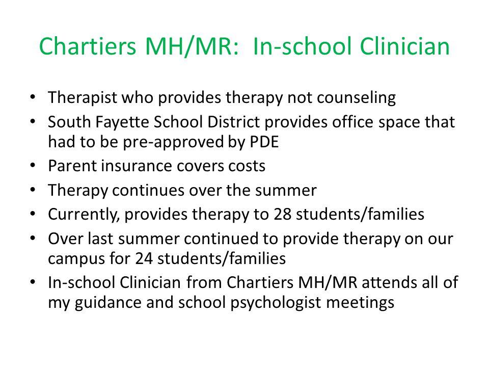 Chartiers MH/MR: In-school Clinician