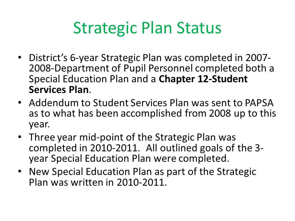 Strategic Plan Status