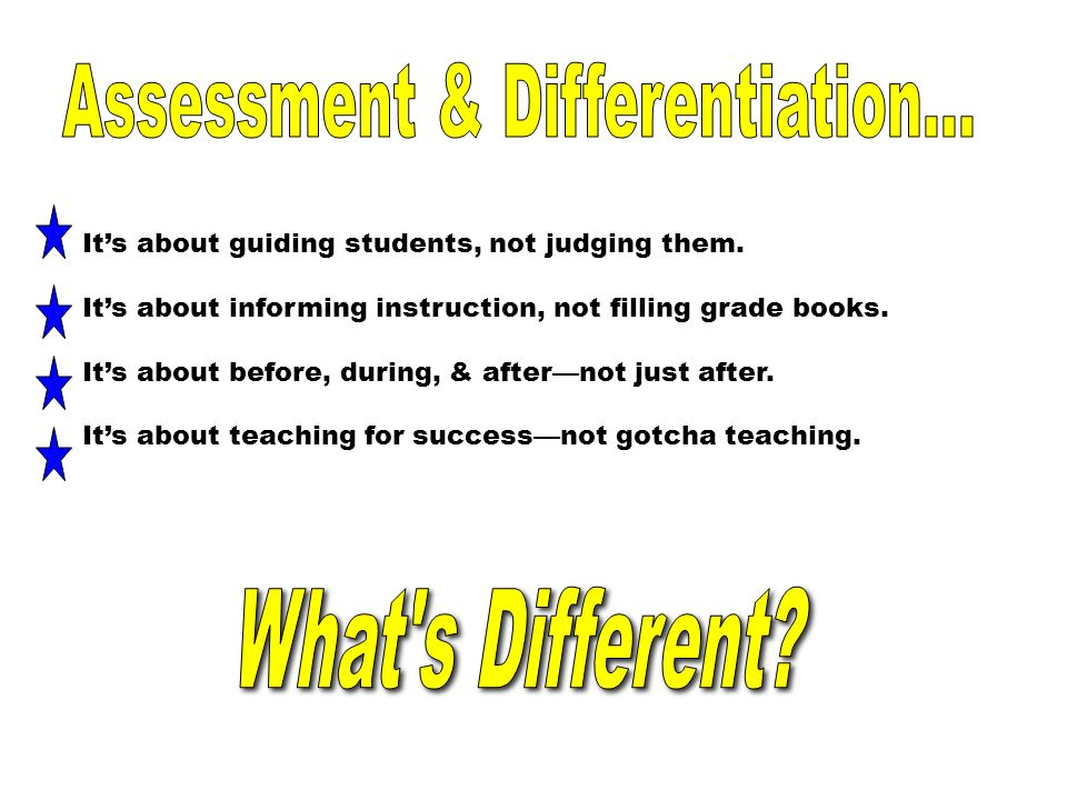 Assessment & Differentiation...