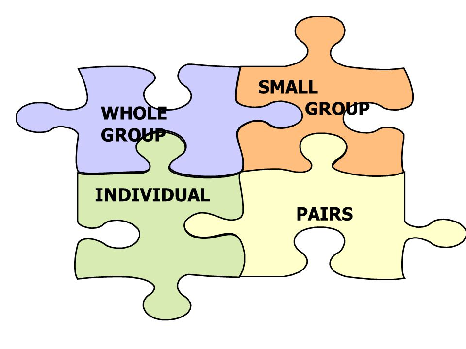 SMALL GROUP PAIRS INDIVIDUAL WHOLE GROUP