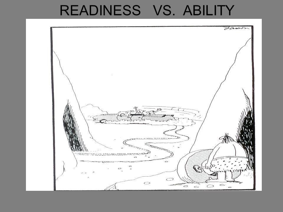 READINESS VS. ABILITY