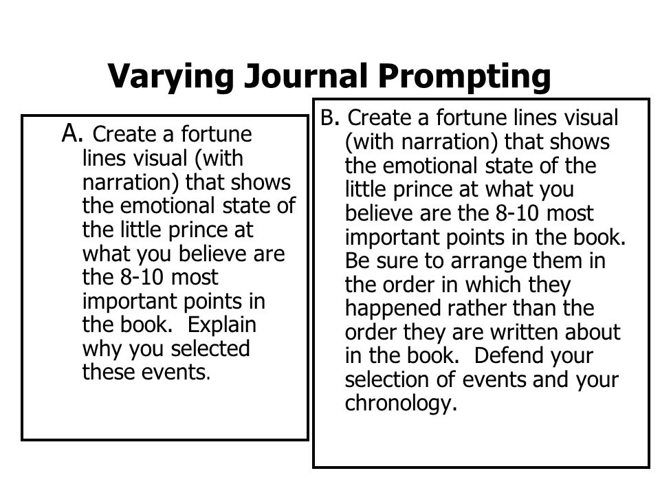 Varying Journal Prompting