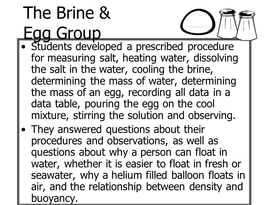 The Brine & Egg Group