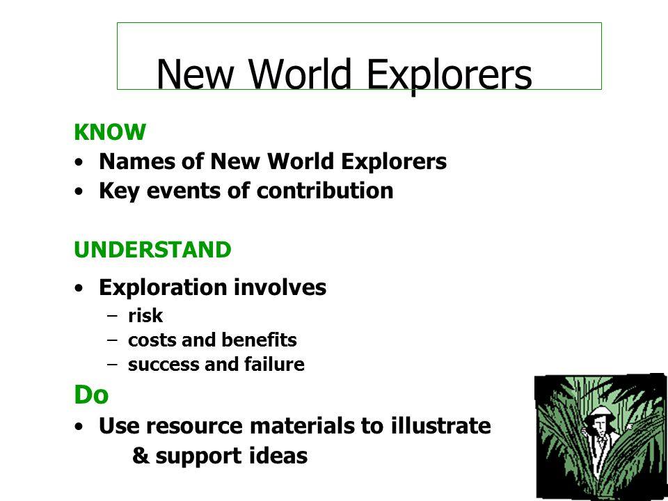 New World Explorers Do KNOW Names of New World Explorers
