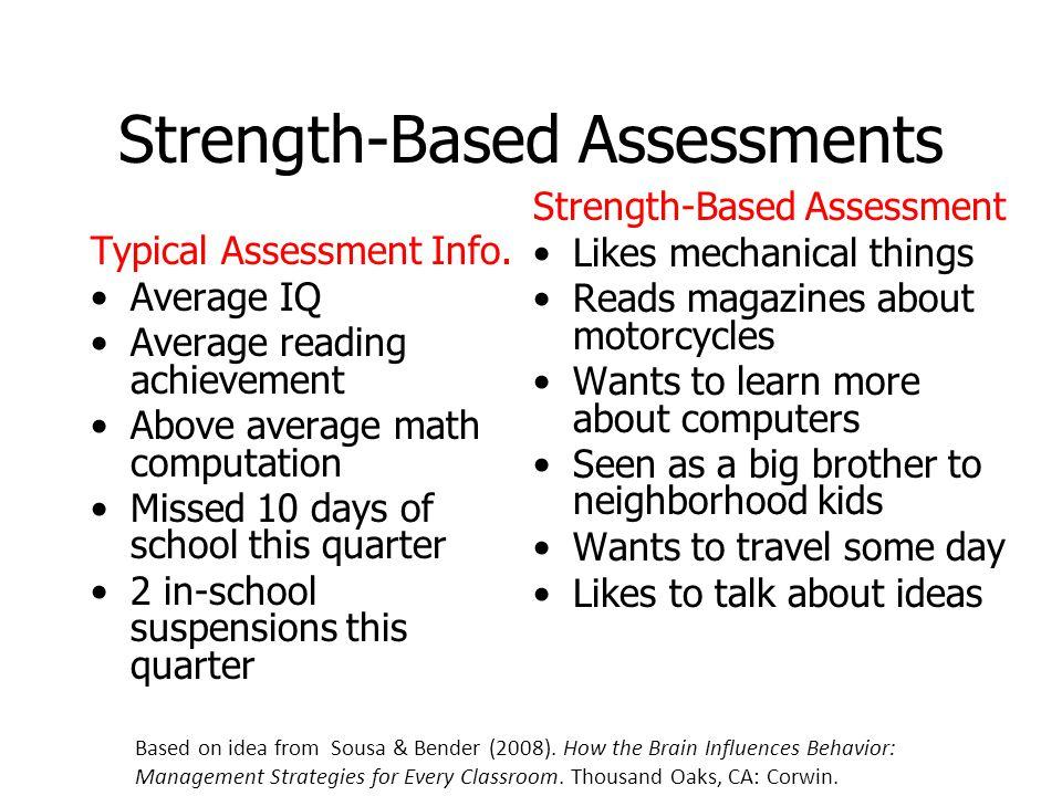 Strength-Based Assessments