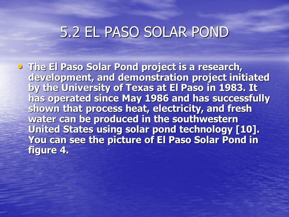 5.2 EL PASO SOLAR POND