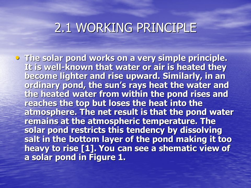 2.1 WORKING PRINCIPLE