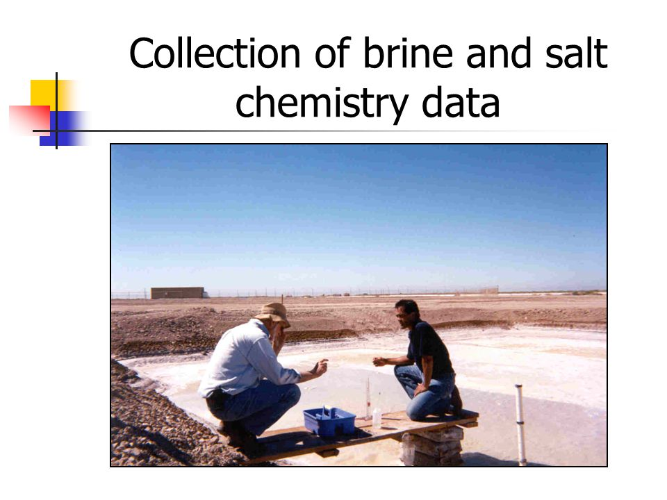 Collection of brine and salt chemistry data
