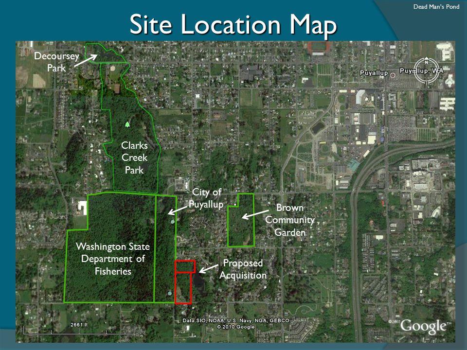Site Location Map Decoursey Park Clarks Creek Park City of Puyallup