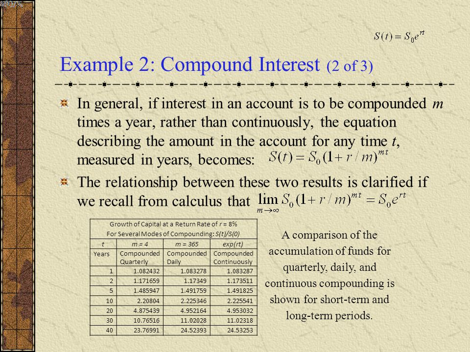 Example 2: Compound Interest (2 of 3)