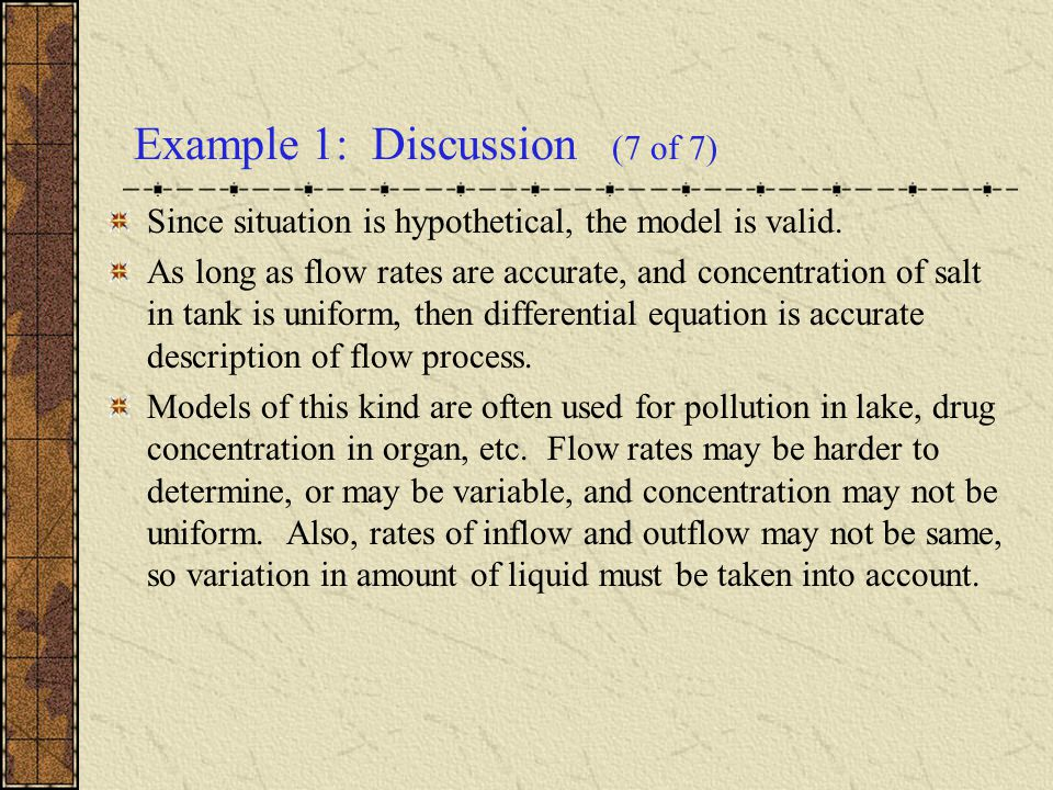 Example 1: Discussion (7 of 7)