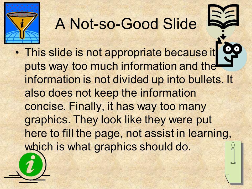 A Not-so-Good Slide