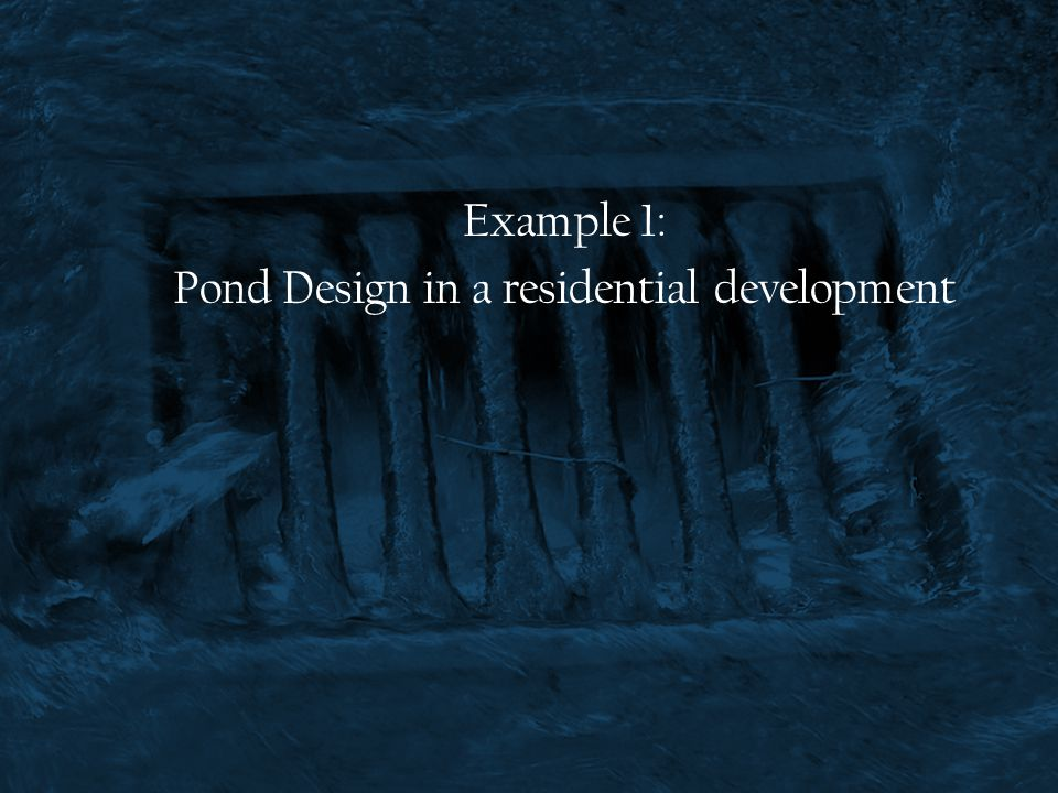 Pond Design in a residential development