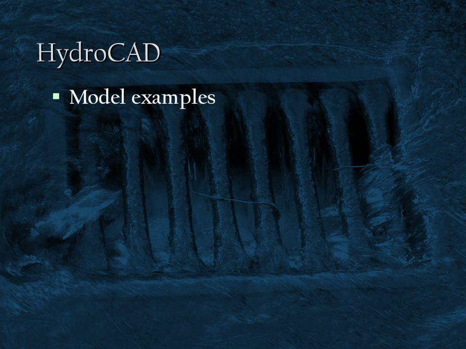 HydroCAD Model examples