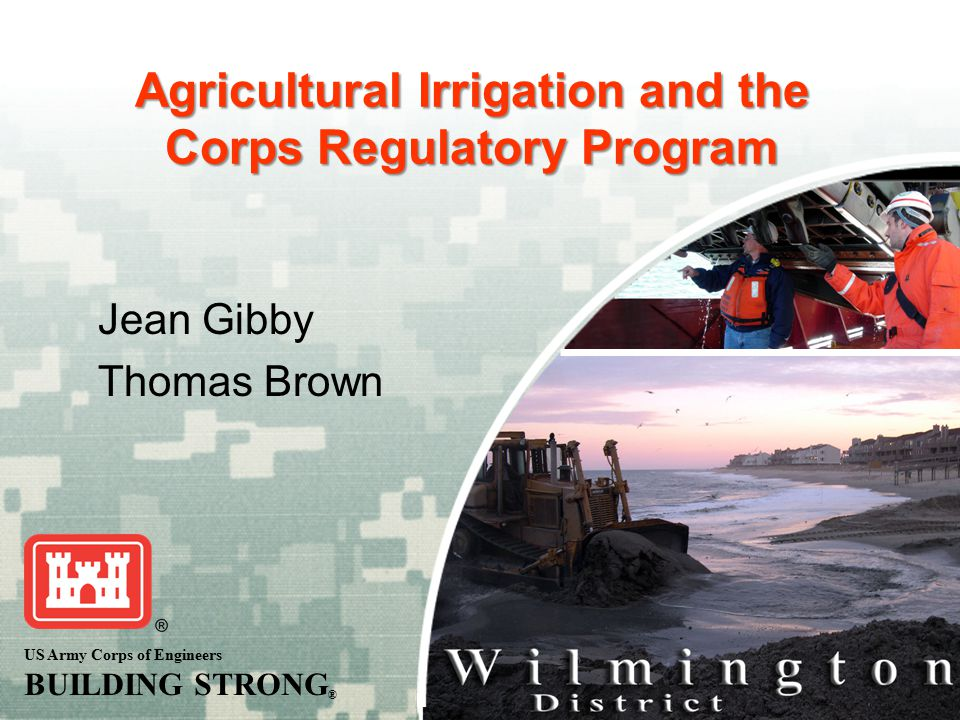 Agricultural Irrigation and the Corps Regulatory Program