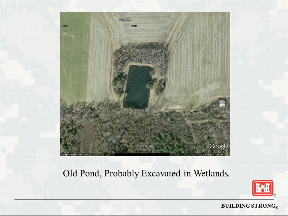 Old Pond, Probably Excavated in Wetlands.