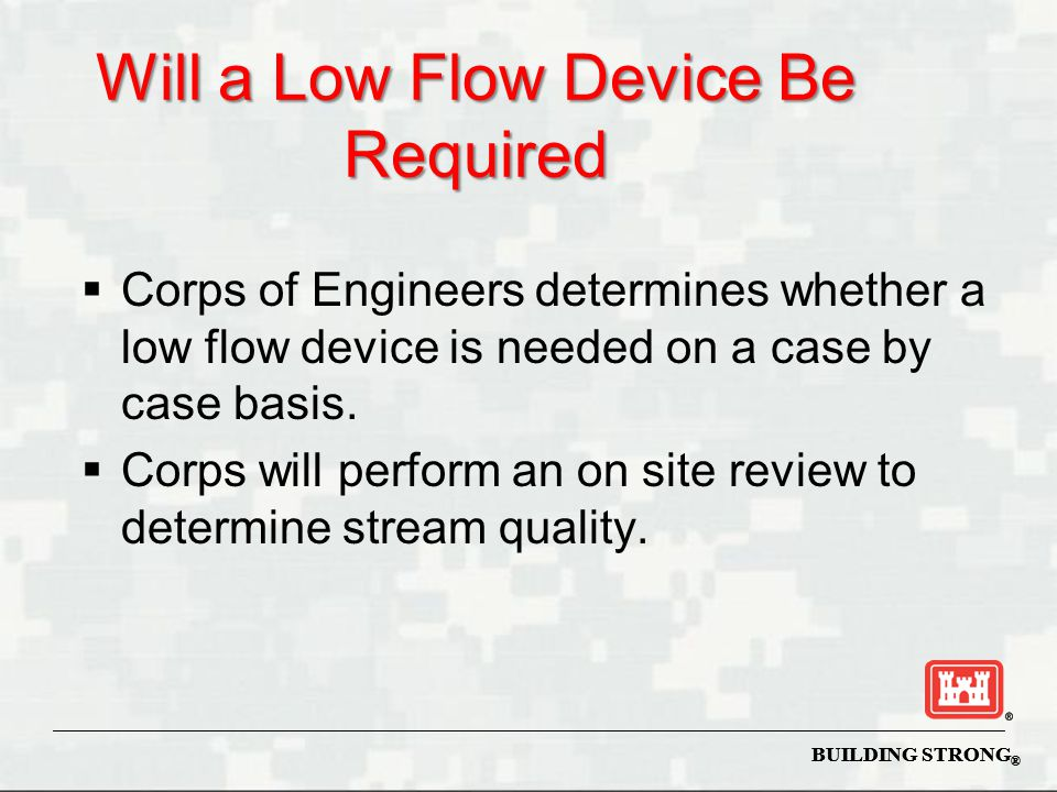 Will a Low Flow Device Be Required