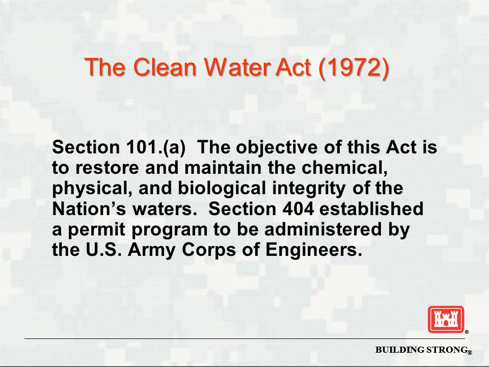 The Clean Water Act (1972)