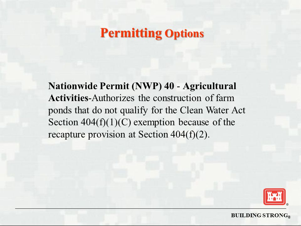 Permitting Options