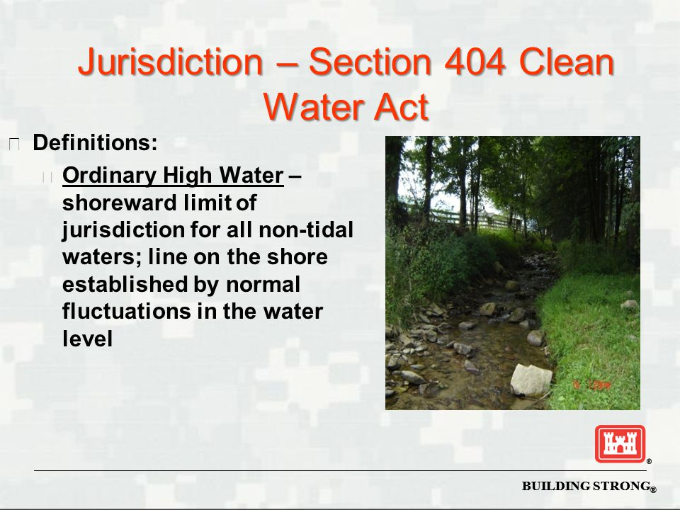 Jurisdiction – Section 404 Clean Water Act