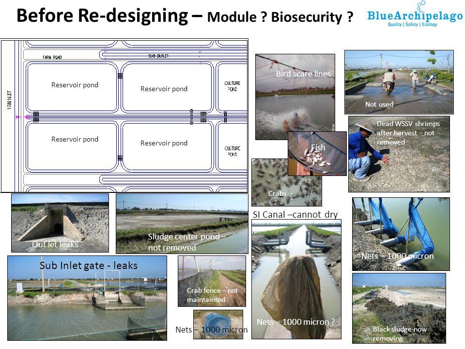 Before Re-designing – Module Biosecurity