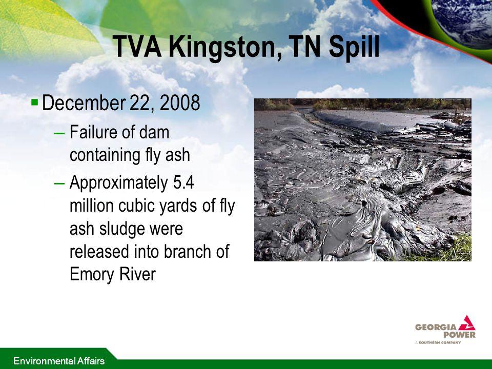 TVA Kingston, TN Spill December 22, 2008