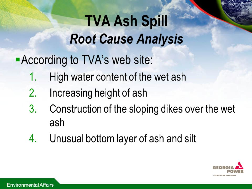 TVA Ash Spill Root Cause Analysis