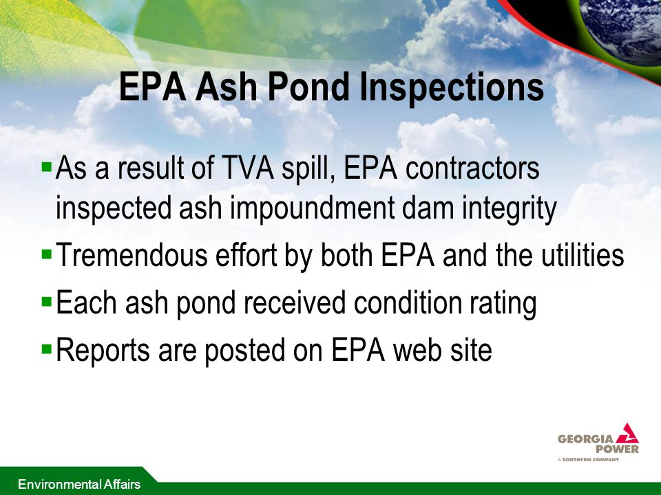EPA Ash Pond Inspections