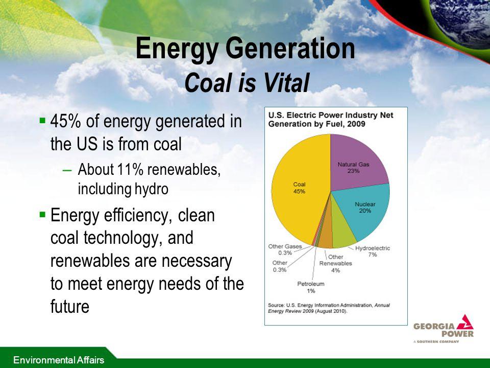 Energy Generation Coal is Vital